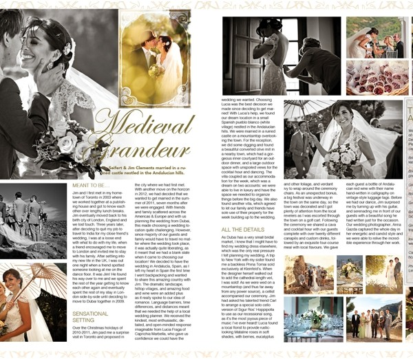 Tia & Jim {Wedding in Casares Spain} in the latest issue of Confeti