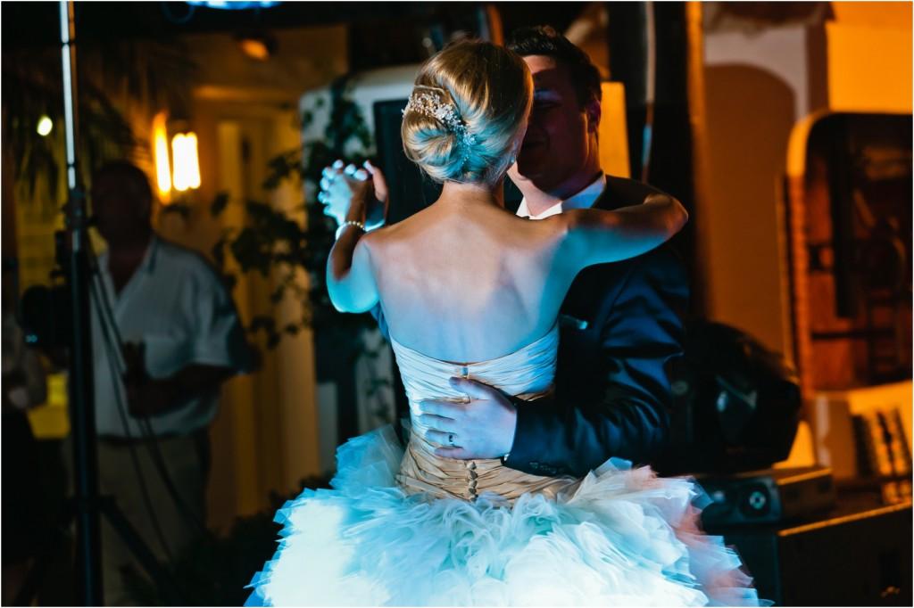 bride and groom first dance Marbella Club wedding