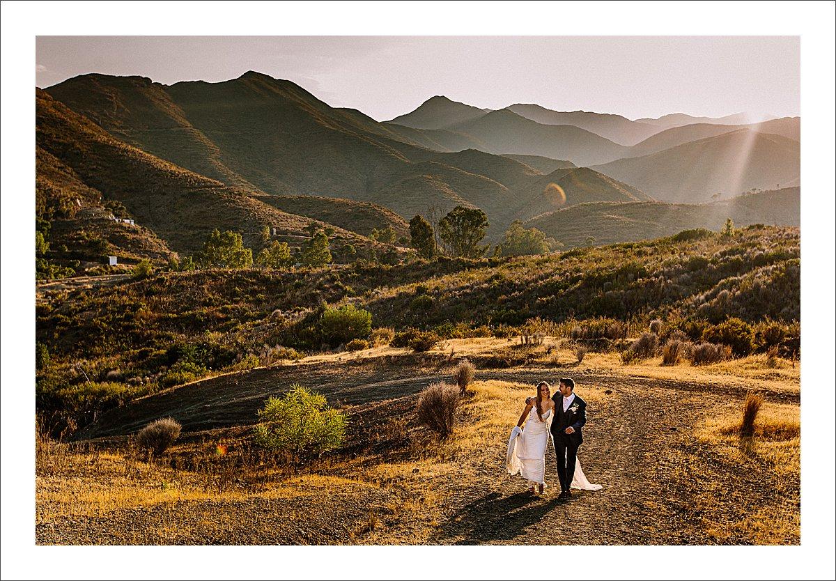 elegant boho wedding in Spain at cortijo rosa blanca
