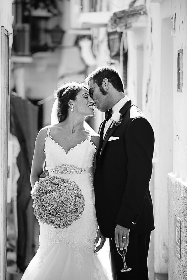 Marbella Old Town bride and groom wedding photography