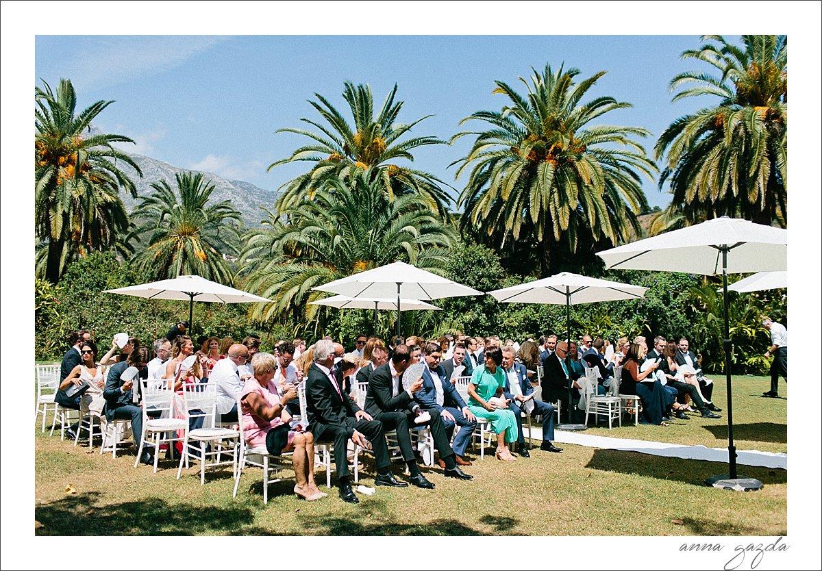 Finca La Concepcion Marbella Wedding ceremony