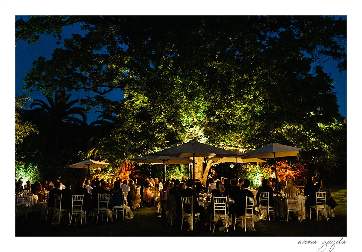lighting wedding venue