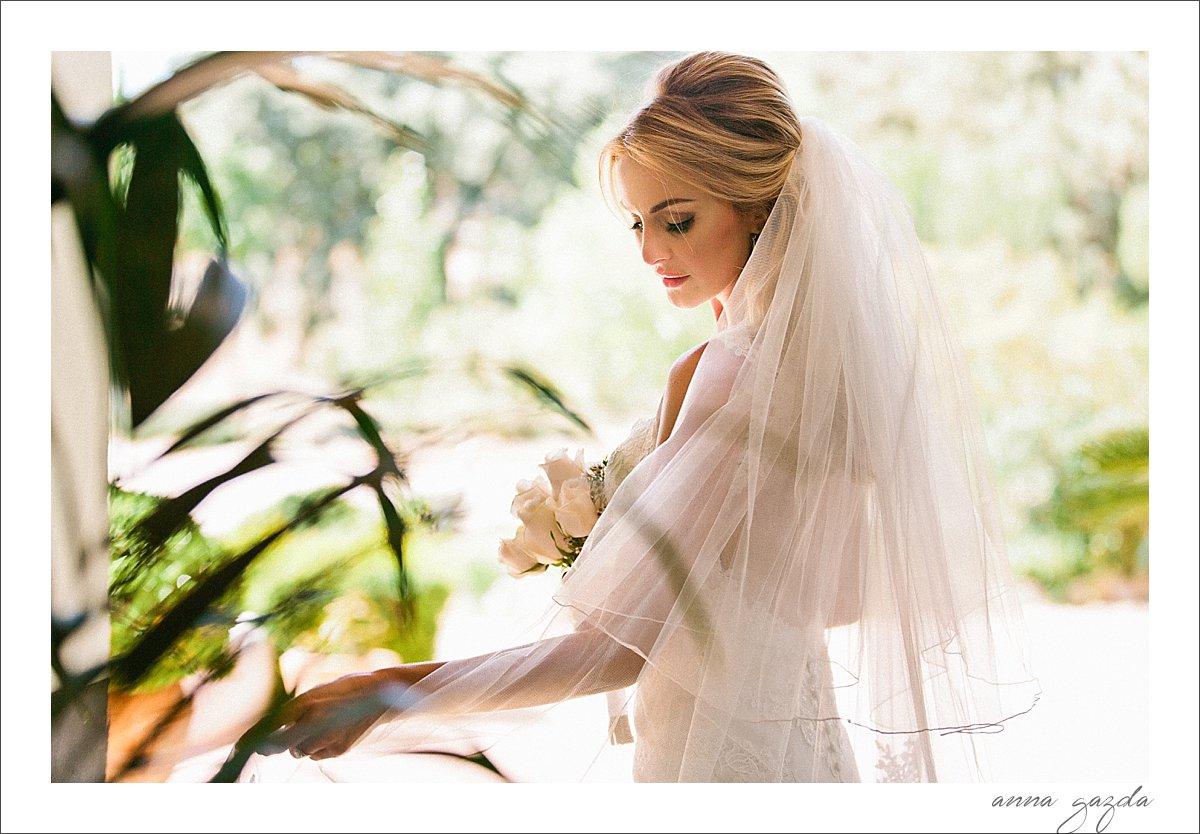 elegant portrait of a bride in Ronda