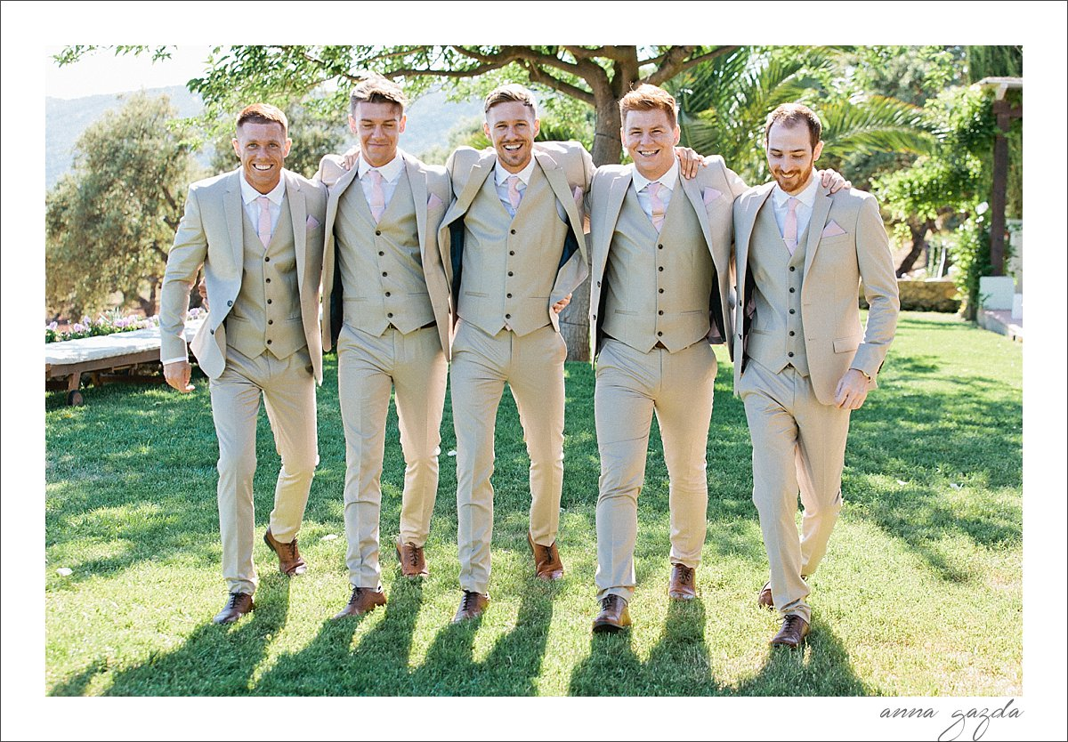 groom and his boys in The Lodge
