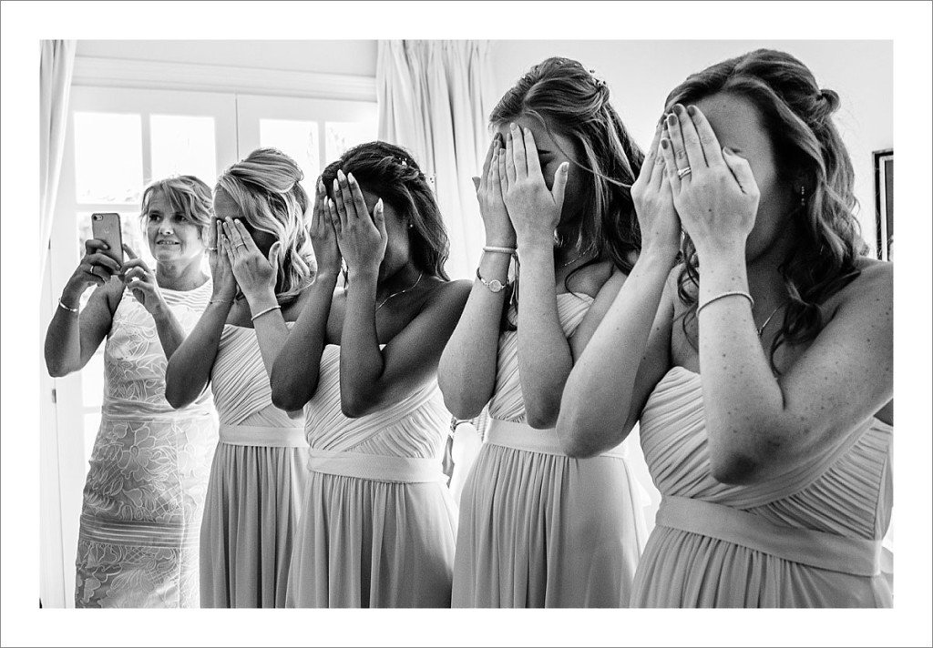 bridesmaids first look, Casa del Rio wedding Benahavis