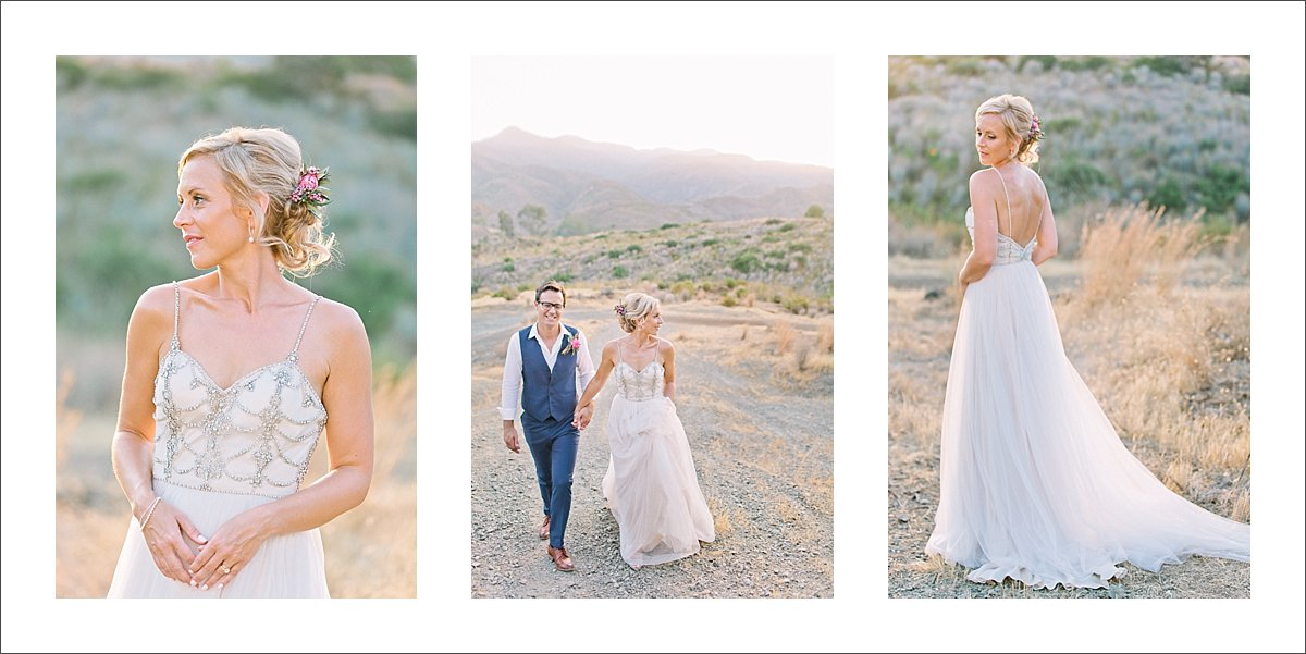 stunning bride at sunset wedding session Marbella
