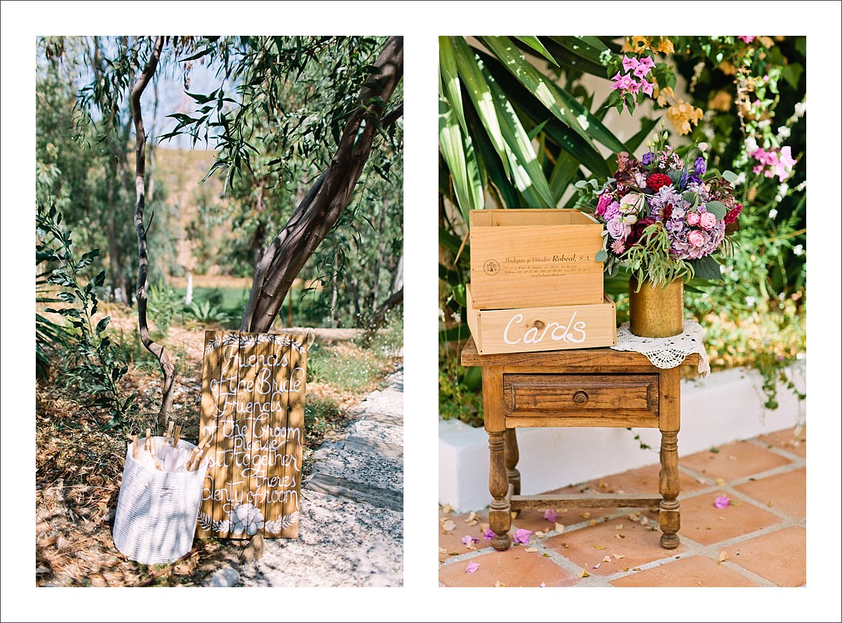 wedding details and decorations Marbella Spain