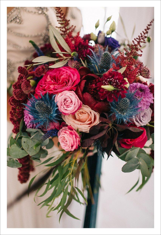colourful bridal bouquet wedding at Cortijo Rosa Blanca, Malaga Spain