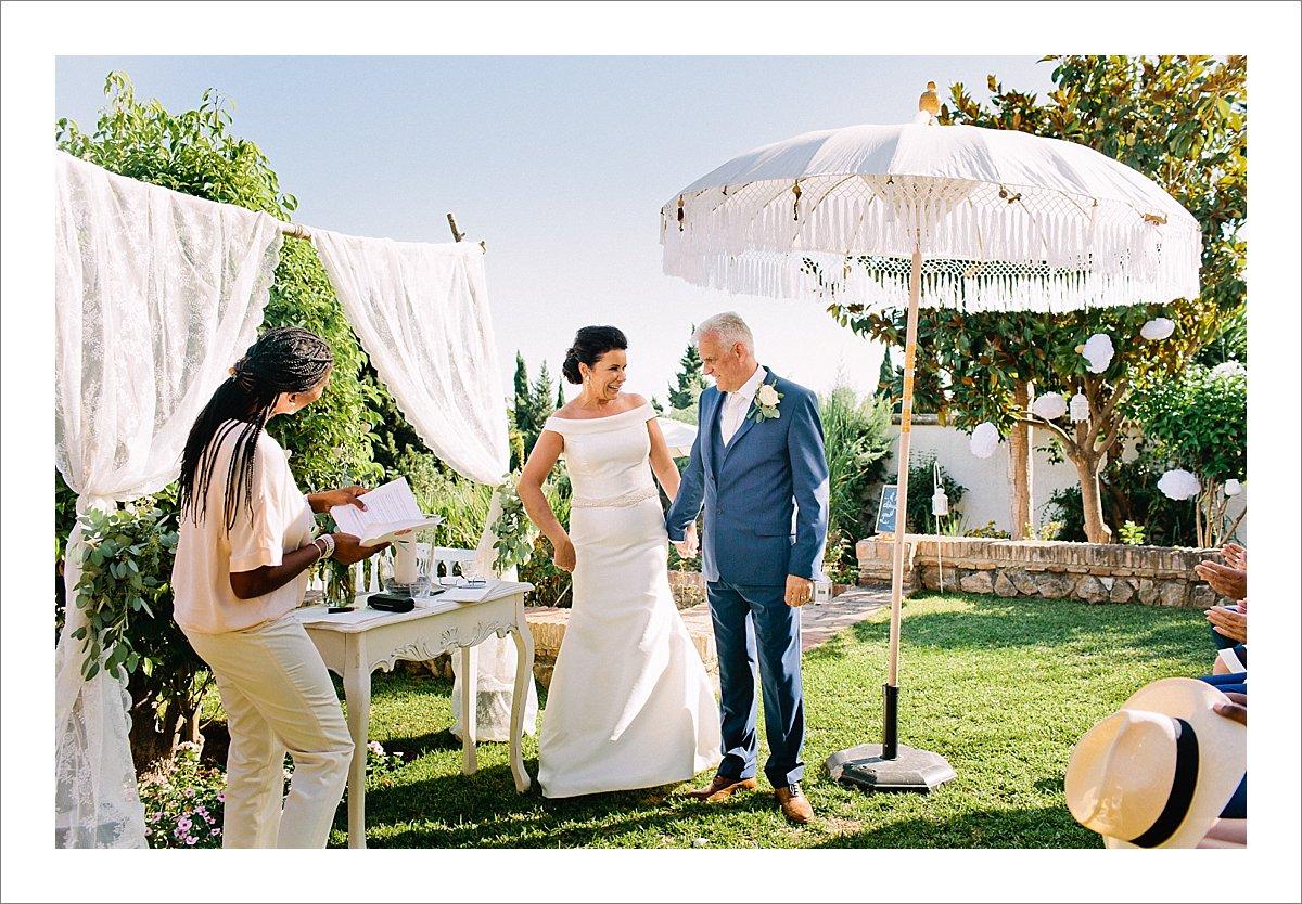 bali parasol garden ceremony