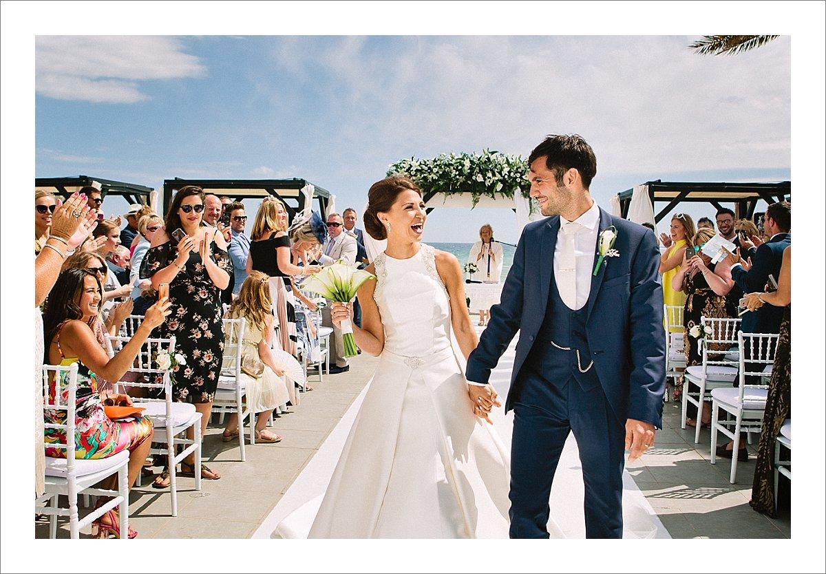 wedding ceremony at Los Monteros