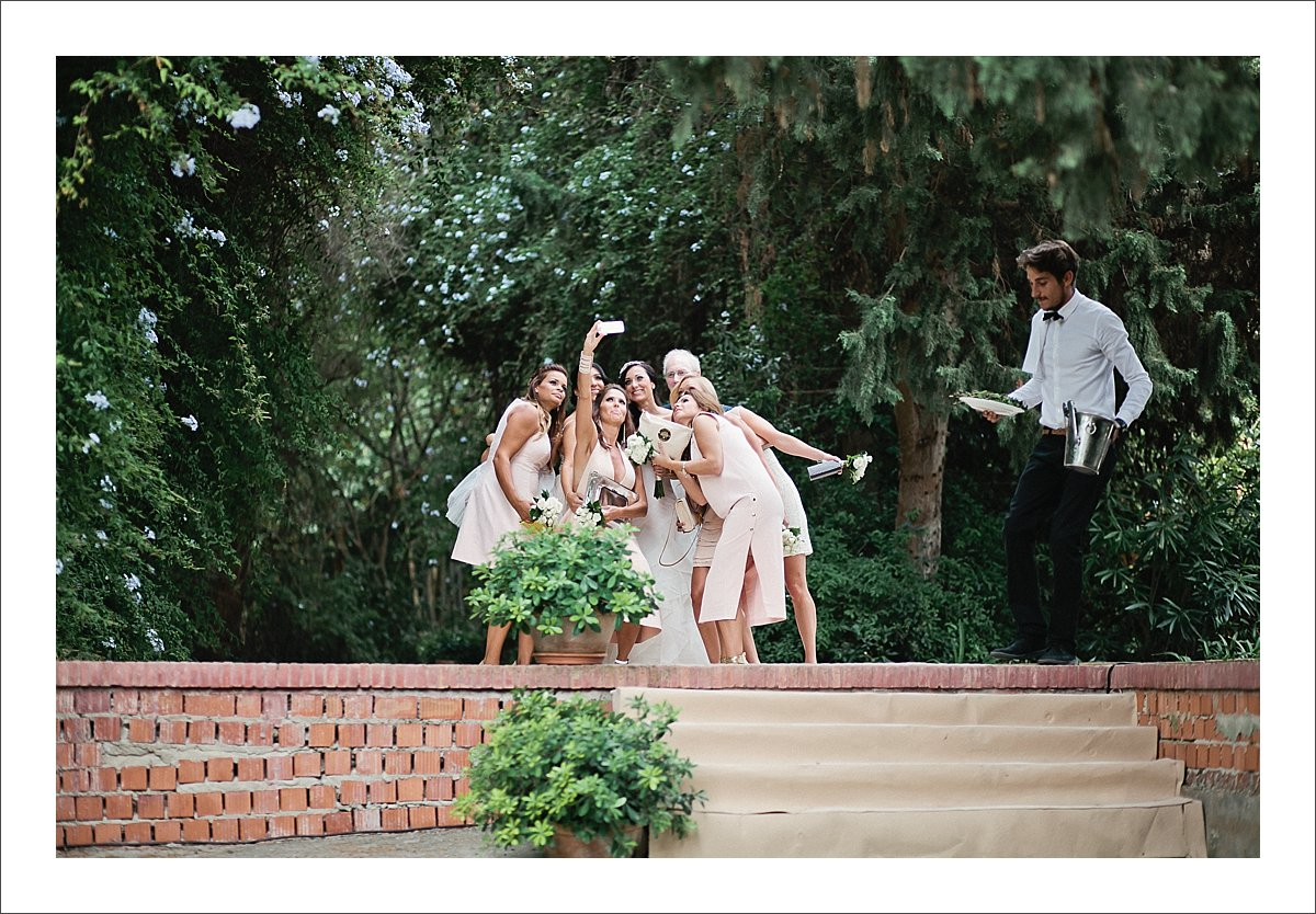 bride with her bridesmaids Spain