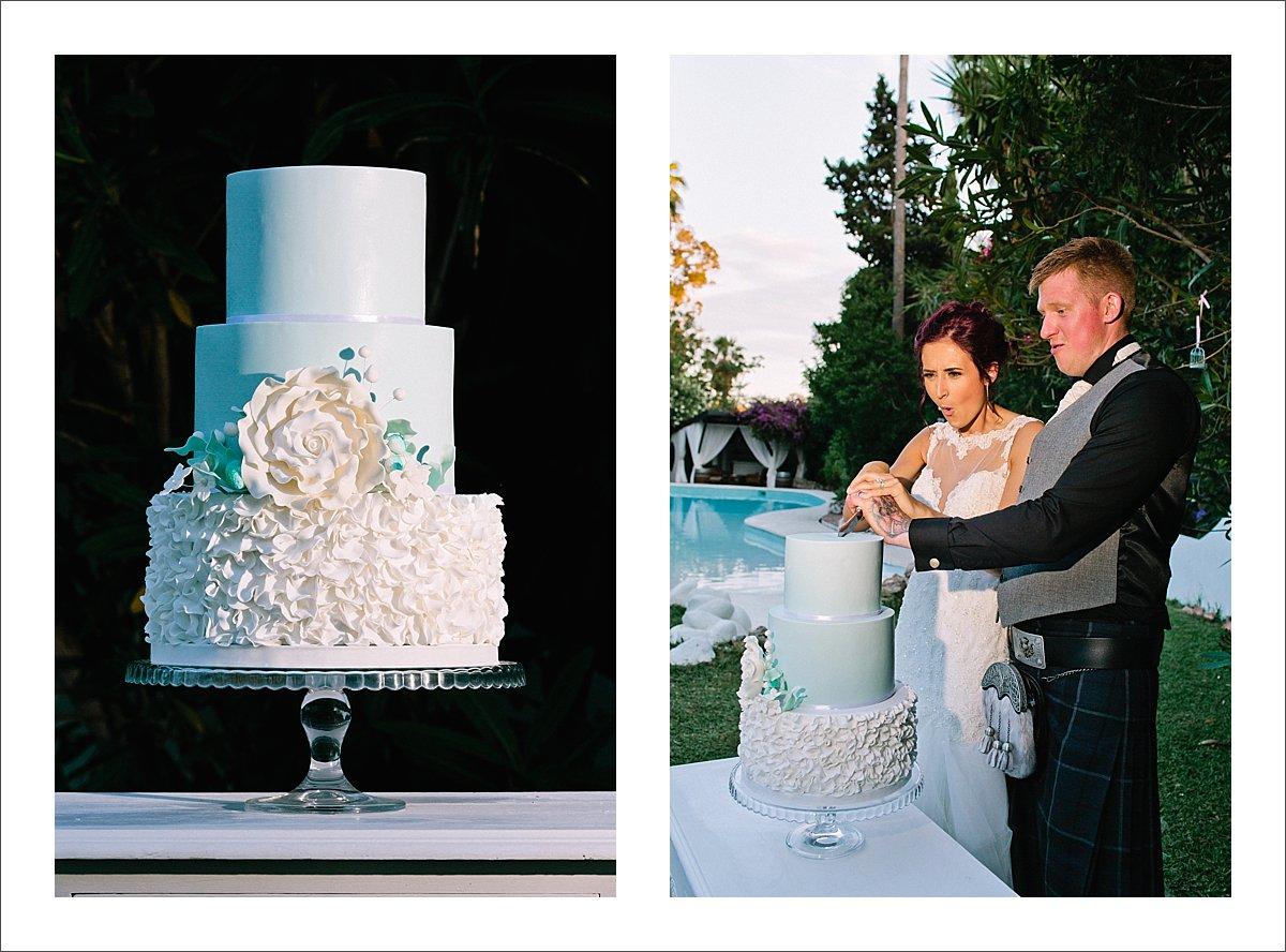 wedding cake Marbella