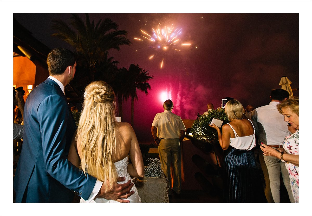 wedding in spain fireworks marbella