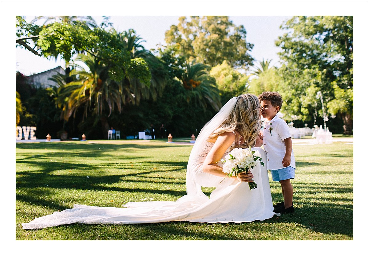 bride and her son at Finca La Concepcion in Marbella