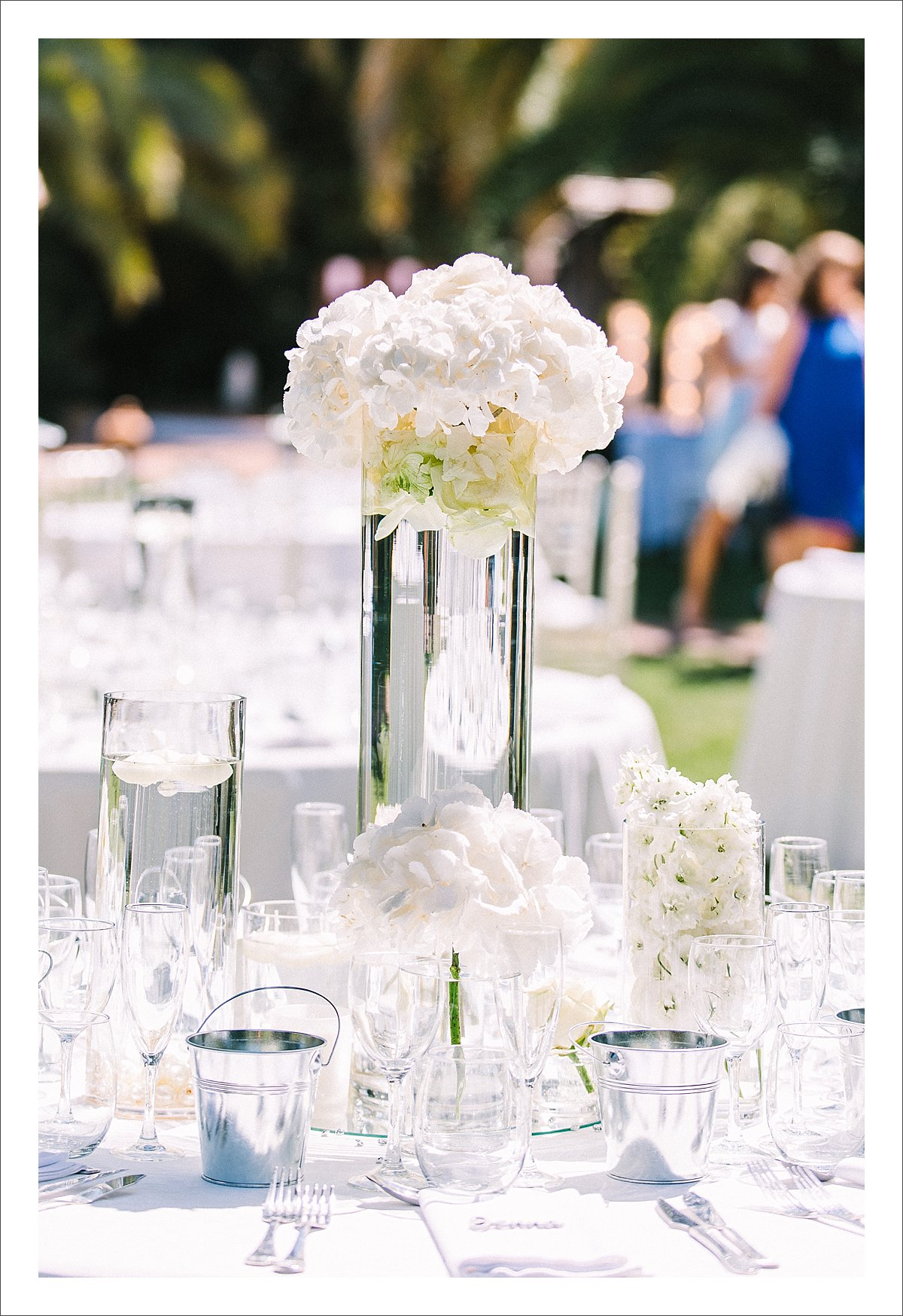 white wedding decor in Marbella