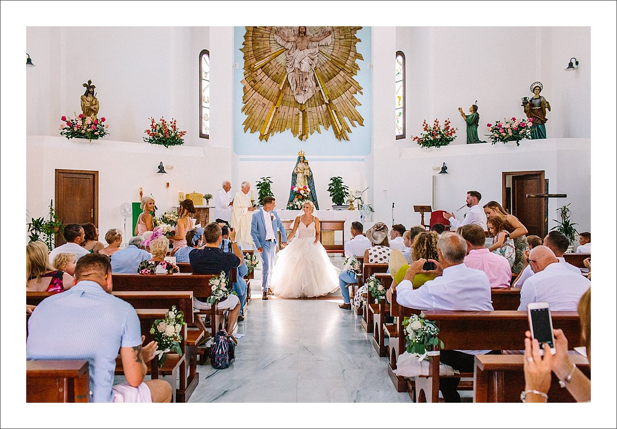 Wedding in Benahavis church