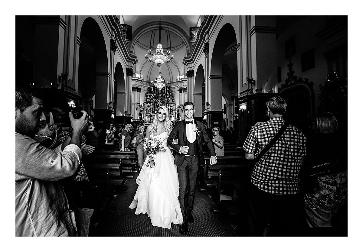 getting married in Encarnacion church in Marbella, Old Townn