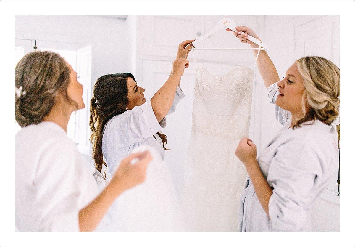 bride and bridesmaids having fun at the Cortijo Rosa Blanca
