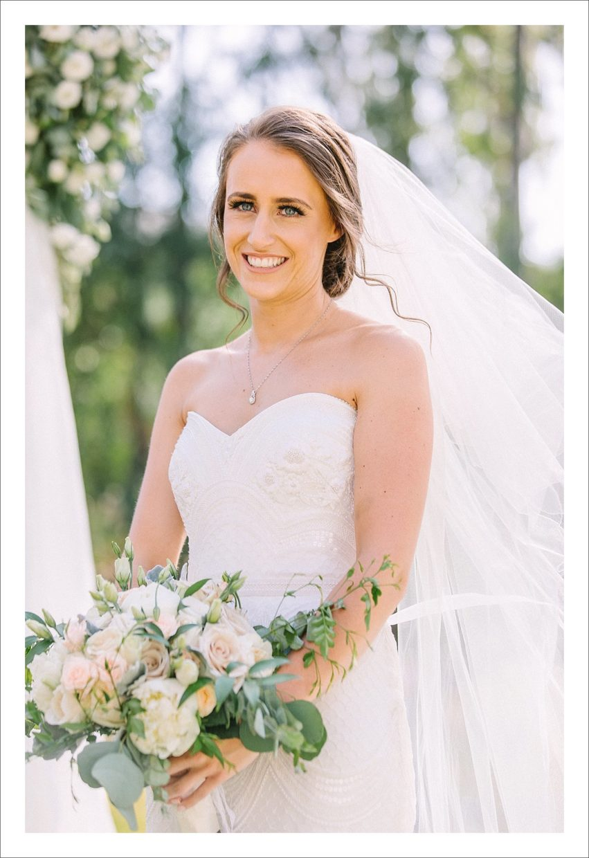 photograph of a stunning bride Marbella wedding