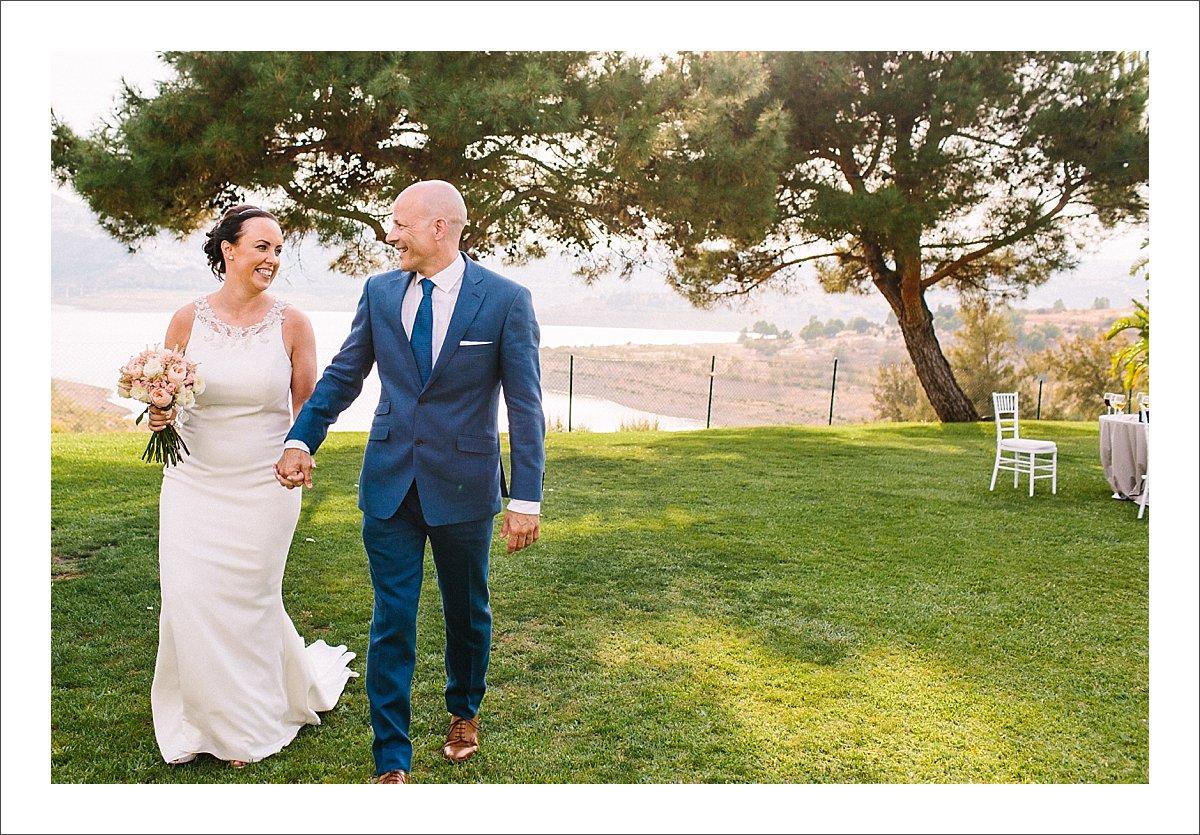 bride and groom portrait la vinuela hotel