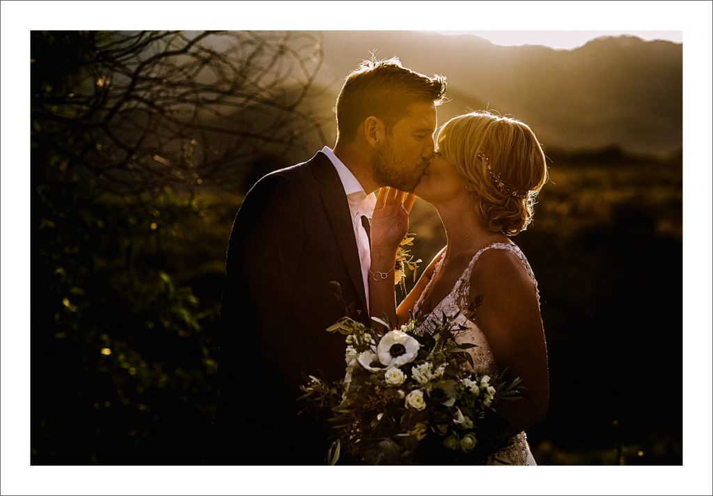 wedding photographer Spain bride and groom portrait at sunset