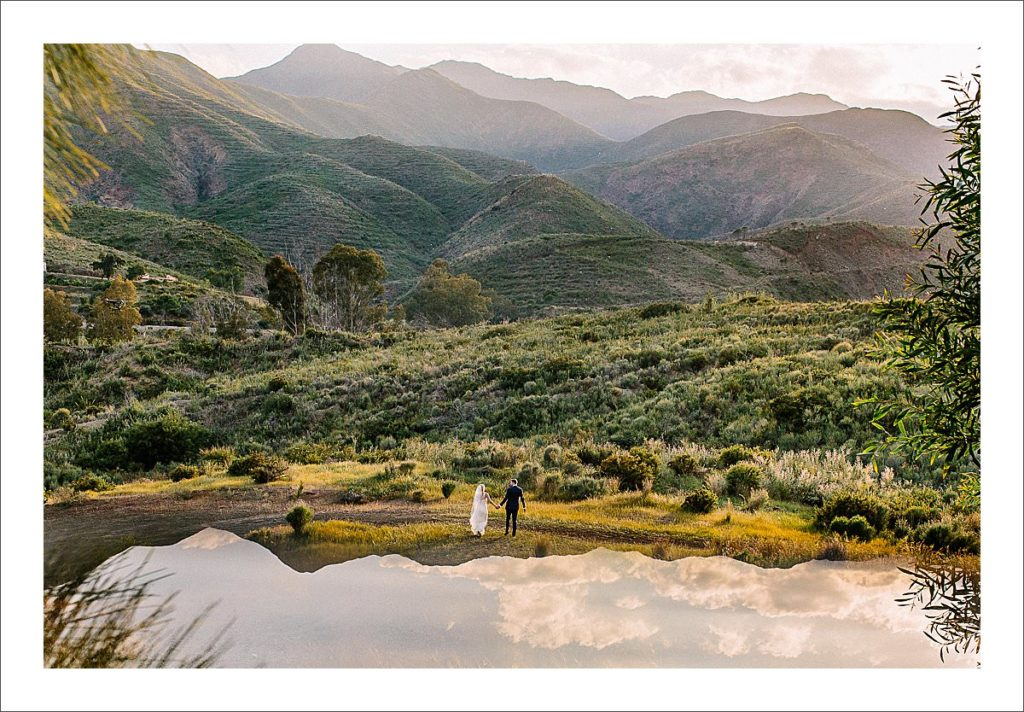 wedding photographer Spain bride and groom portrait sunset