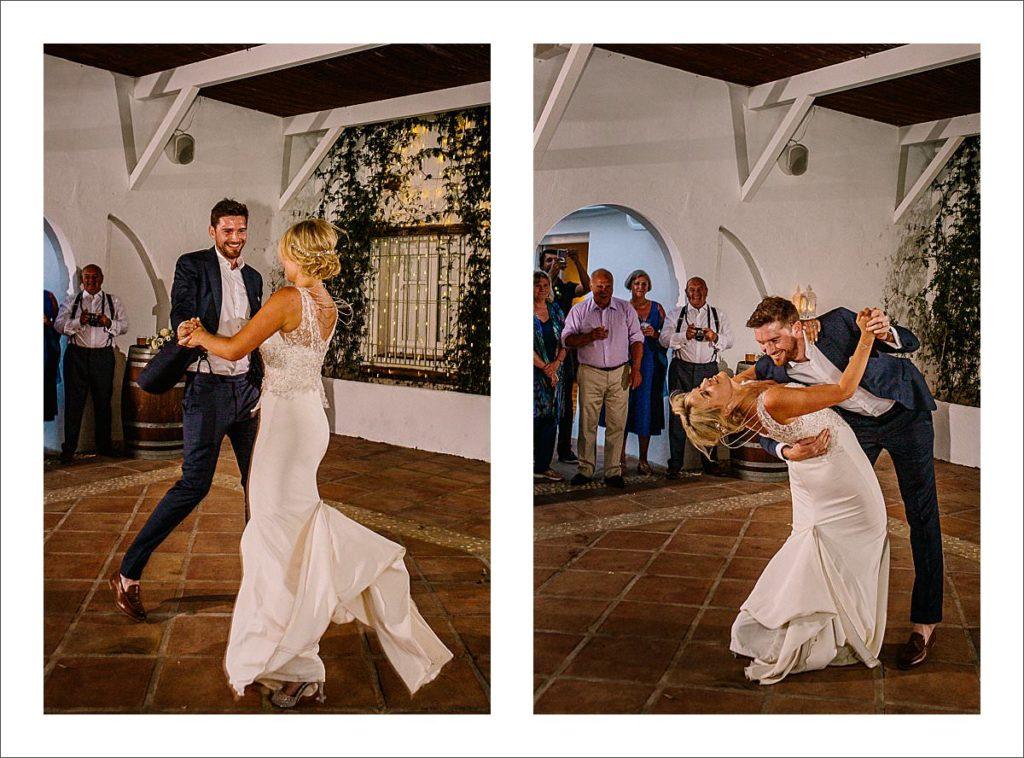 destination wedding Spain first dance