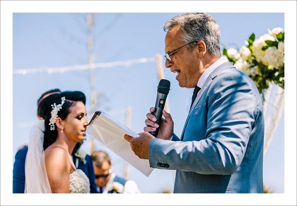 beach wedding ceremony Spain