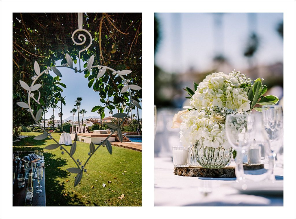 wedding decoration beach wedding Marbella Villa Alicate