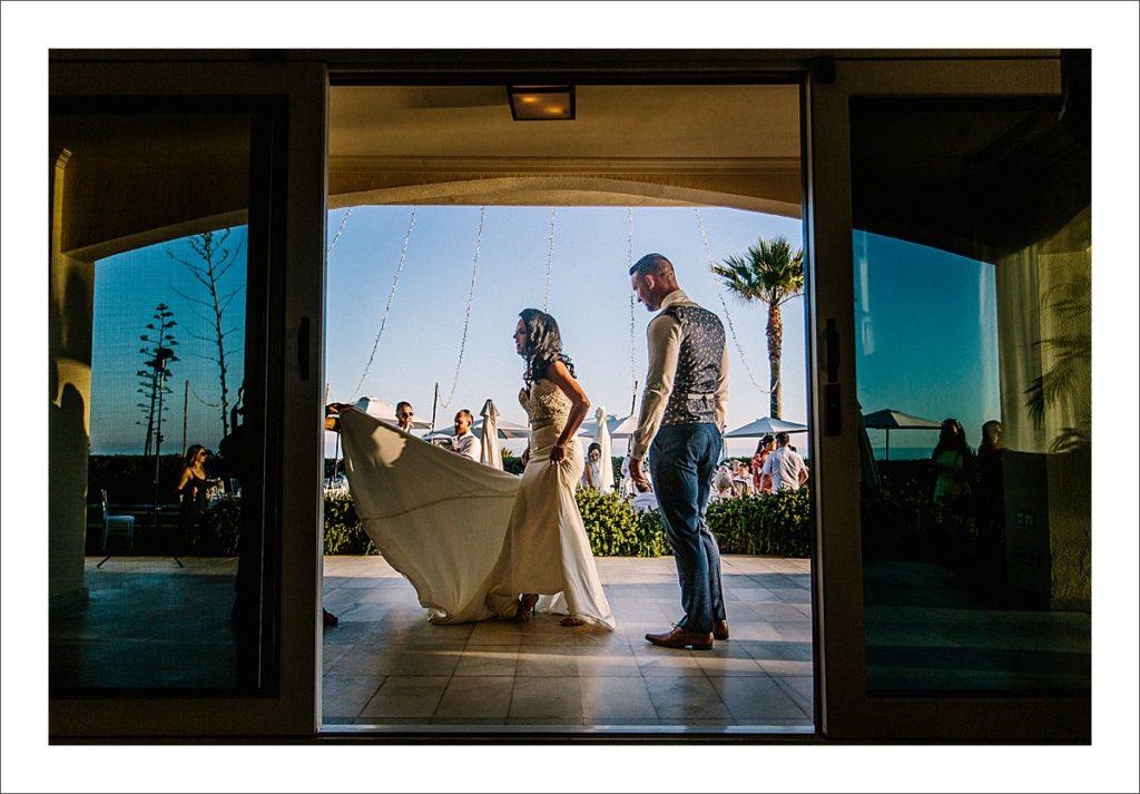 beacj wedding ceremony Spain