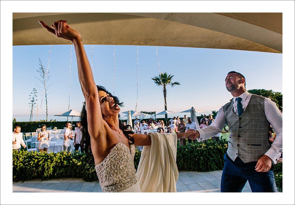 beach wedding Marbella bride and groom