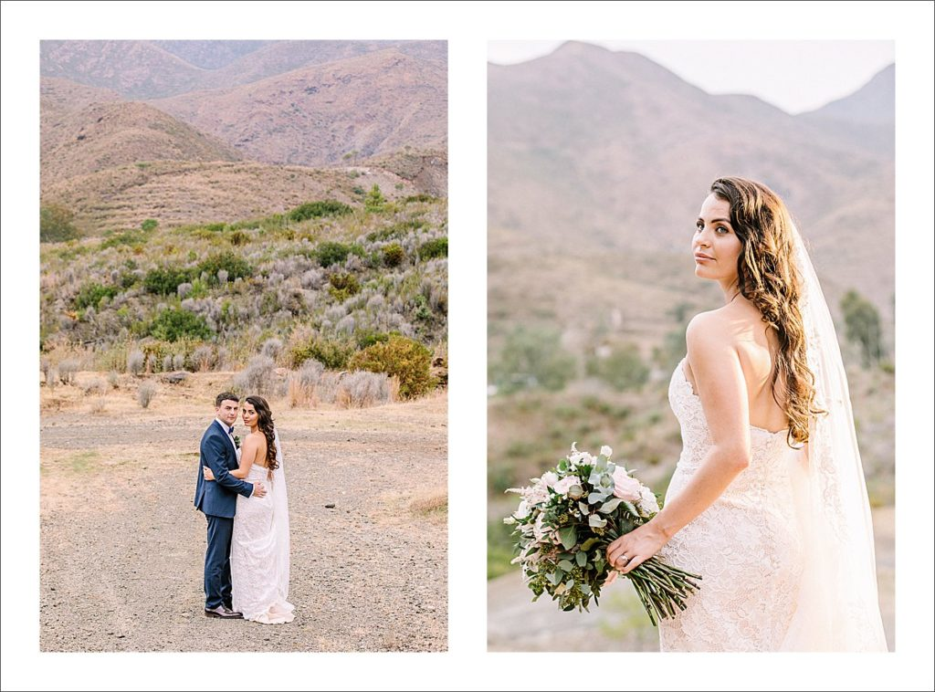 Bride and Groom Portraits on a Cloudy Day