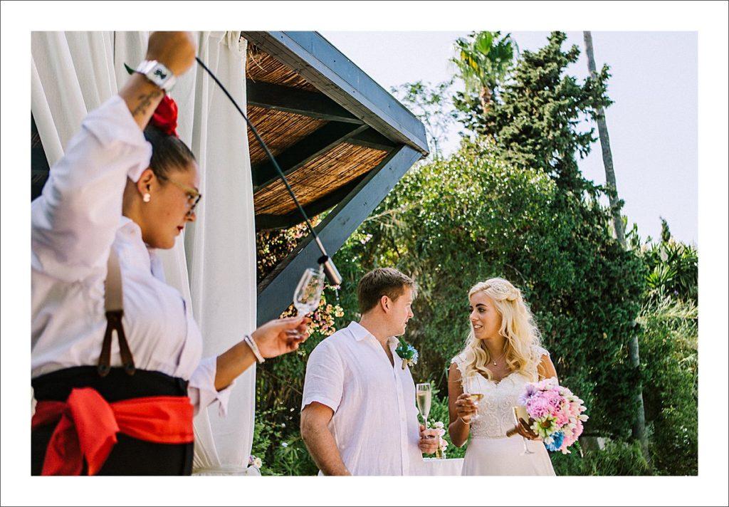 spanish wedding sherry