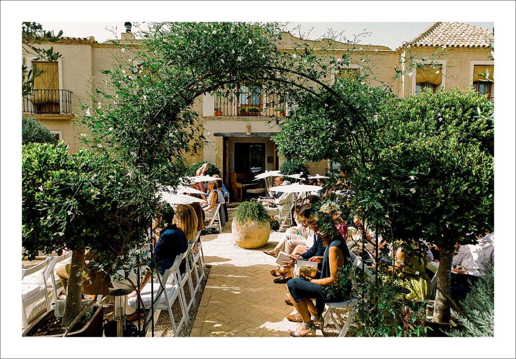 casa la siesta wedding ceremony gardens